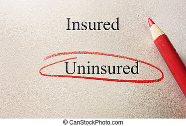 Uninsured red circle - Uninsured circled, with Insured text...