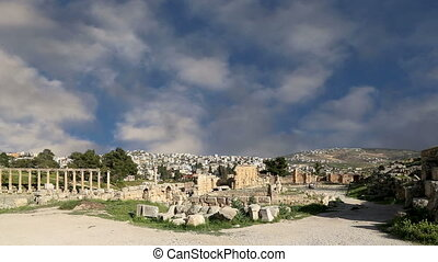 Roman ruins,Jordanian city of Jeras - Roman ruins in the...