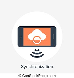 Synchronization - Vector illustration of synchronization...