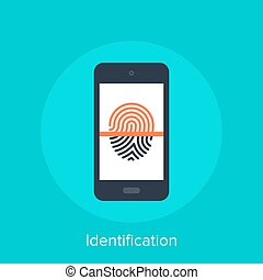 Identification - Vector illustration of identification flat...