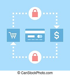 secure transactions - Abstract vector illustration of secure...