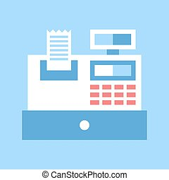 checkout - Abstract vector illustration of checkout flat...