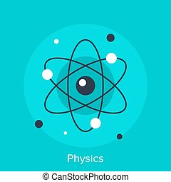 physics - Abstract vector illustration of physics flat...