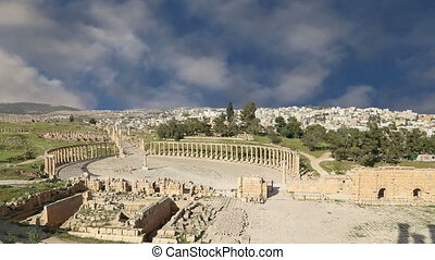 Forum Oval Plazain Gerasa, Jordan - Forum Oval Plaza in...