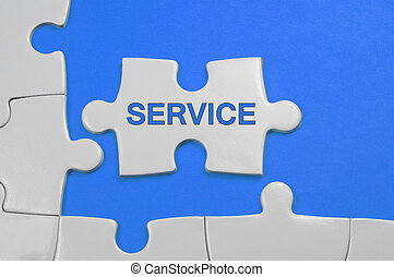 Service Text - Business Concept - Service word on white...