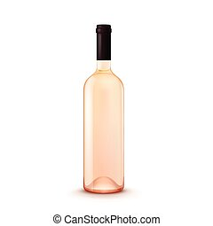 Vector Glass Wine Bottle