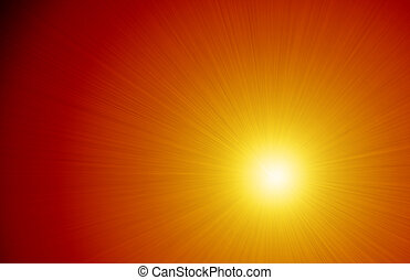Intense Light Ray Sunshine Background - Graphic design...