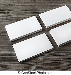 Several business cards - Set of blank white business cards...