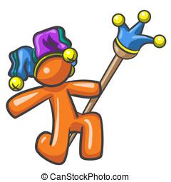 Design Mascot Joker Jester Clown - A design mascot joker,...