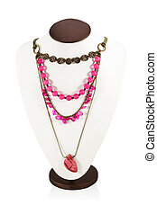 Handmade jewelry at the bust to show - Necklace with stone...