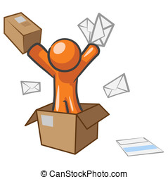 Design Mascot Going Postal