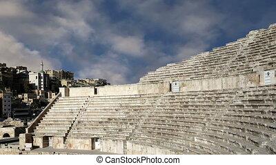 Roman Theatre in Amman, Jordan -- theatre was built the...