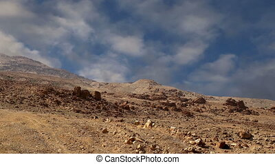 Stone desert,Jordan, Middle East - Stone desert typical arid...