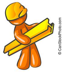 Orange Man Contractor Construction Worker - An orange man...
