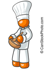 Orange Man Cook - An orange man cook creating a special...