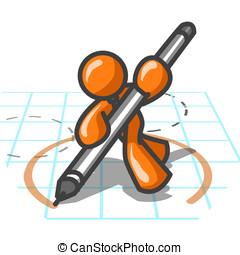 Orange Man Design