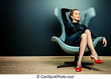 elegant businesswoman - Portrait of a stunning fashionable...