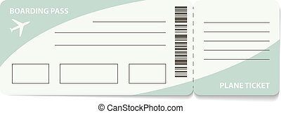 Plane ticket - Blank plane ticket for business trip travel...