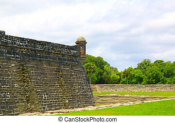 Castillo de San Marcos in St Augustine, Florida ancient fort...