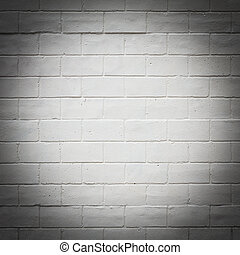 Painted white brick wall texture
