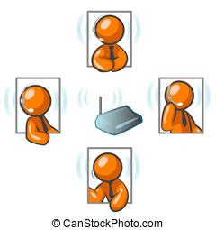 Orange Man Communication Network