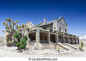 Abandoned Ghost City Rhyolite Former Train Station, NV Ghost...