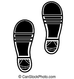 Clean Shoe Imprints Isolated on White Background