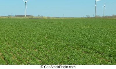 green field and wind power