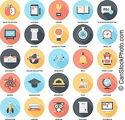 Education and Knowledge - Abstract vector set of colorful...