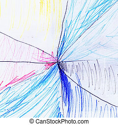 Abstract Children Drawing - Abstract picturesque colored...