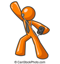 Orange Man MP3 Player - An orange man dancing while...