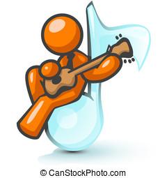 Orange Man Music Man