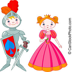 Medieval  - Little boy as a knight and girl as a princess