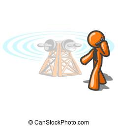 Orange Man Cellular Tower