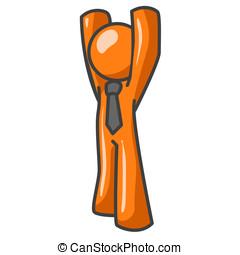 Orange Man Arms Up - Orange Man Arms UP