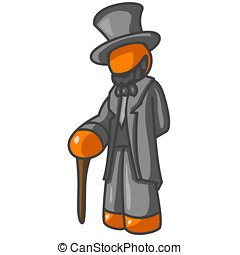 Abraham Lincoln - Orange Man Abraham LIncoln