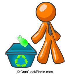 Orange Man Recycling