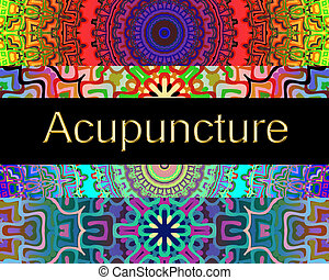 Acupuncture design with spiritual ethnic mandalas