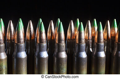 Green tipped bullets - Cartridges with steel cored bullets...