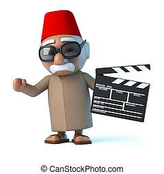3D, marocain, marques, a, film,