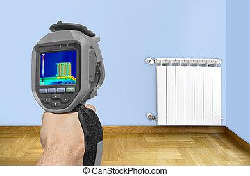 Recording Radiator with Thermal Camera