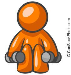 Orange Man Small Weights
