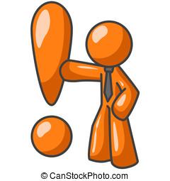 pomarańcza, Człowiek, Exclaimation, kropka