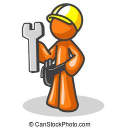 Orange Man Under Construction