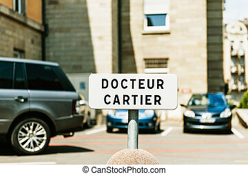 Physician parking space sign - specialy forthe neighborhood doctor