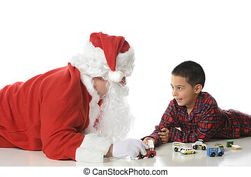 Playing with Santa
