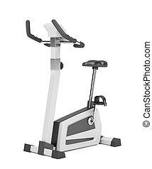exercício, bicicleta,