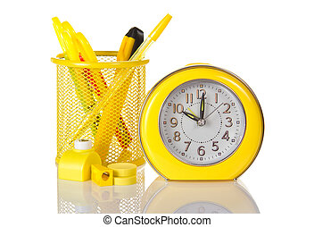 Clock sharpener and a puncher - Hours, tools in a support,...