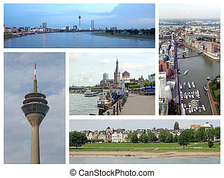 Duesseldorf landmarks collage - Landmarks collage of the...