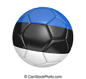 Soccer ball with Estonia flag - Soccer ball, or football,...